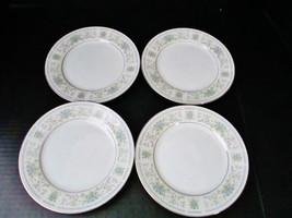 Nitto Fine China of Japan Set of 4 Bread Plates Hanover Platinum Pattern... - $39.10