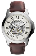 Fossil Grant Automatic Beige Skeleton Dial Me3099 Men's Watch - $178.50