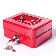 Small Cash Box with Lock and Slot - Jssmst Metal Coin Bank Piggy Bank fo... - $9.73