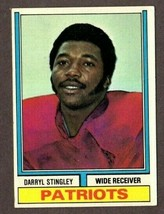 1974 TOPPS FOOTBALL #221 DARRYL STINGLEY (RC) CARD-NEW ENGLAND PATRIOTS - $3.91