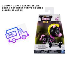 Zoomer Zupps Safari Zellie Zebra Pet Interactive Sounds Lights Sensors - $18.80