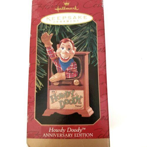 2 Hallmark Christmas Ornaments Howdy Doody Anniversary Edition,  Good Luck Dice - $12.11