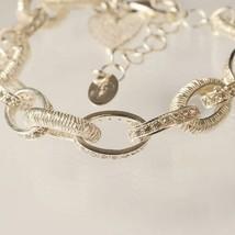 Silver 925 Bracelet Rhodium Disc Brake Worked by Mary Jane Ielpo image 2