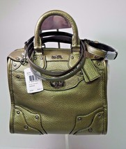 NWT Coach Mini Rhyder 33 Metallic Green Leather Satchel Bag Purse 36105 New - $322.21