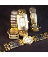 LADIES WRISTWATCH LOT 4 WOMENS WATCHES GOLD & SILVER TONE FASHION TIMEPI... - $12.86