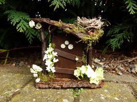 Woodland Fairy Door with Nest - Fairy Garden, Fairy House, Miniature, Do... - $27.61