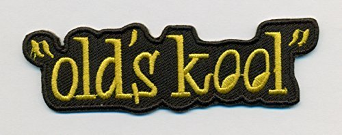 Old's Kool Funny Embroidered Iron On PATCH - 3 1/2 x 1 inch
