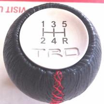 1 Pcs, Toyota TRD, Gear, Shift Knob, Black Leather, Red Stitch, 5 Speed, GT86 - $31.62