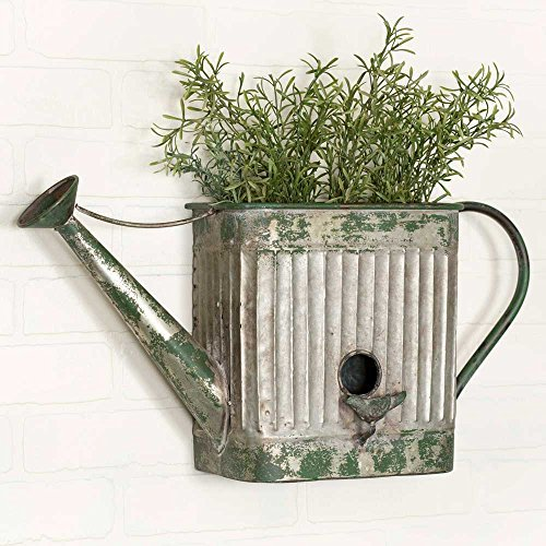 Vintage Style Corrugated Water Can Planter