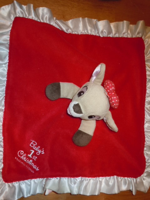 Rudolph Baby's First Christmas Security Blanket 2011