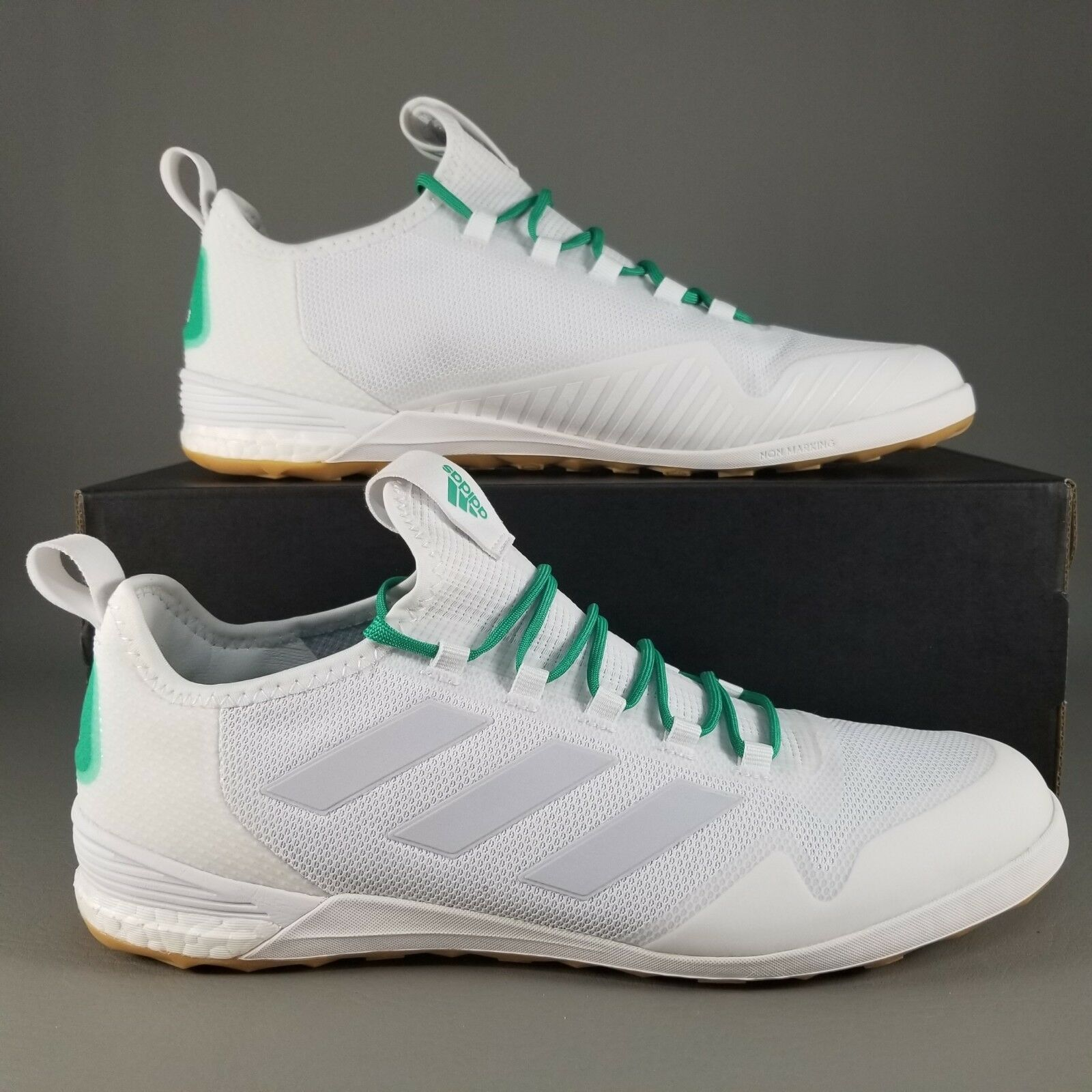 0fba7f157 adidas Ace Tango 17.1 IN Indoor Soccer Cleats Size 9.5 Boots White Green  Mens