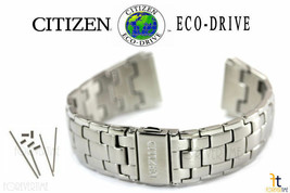 Citizen Eco-Drive 4-S022240 Stainless Steel Watch Band Strap 4-S063418 w... - $93.46