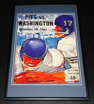 1963 Washington vs Pitt Panthers Football Framed 10x14 Poster Official R... - $46.39