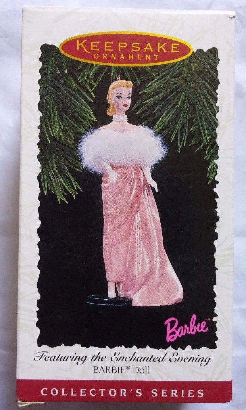 1996 Hallmark Holiday Barbie Enchanted Evening Ornament Doll Collector Series