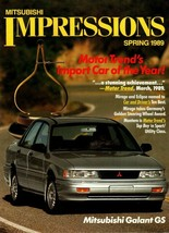 1989 1990 Mitsubishi Galant  Original Road Test Car Brochure Guide 20-page - $8.54