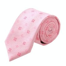 Classic Casual&Formal Diamond Plaid Pattern Pink Men Tie Neckties Neck Ties 7CM