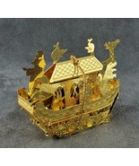 Vintage Filigree Noahs Ark Ornament Gold Tn FREE SHIPPING - $19.50