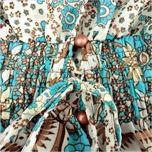Bohemian Autumn Country Print Frock Long Sleeve Flowing Chiffon Maxi Dress image 6