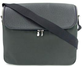 Auth LOUIS VUITTON Khaki Black Taiga Taimyr Messenger Shoulder Bag M3086... - $320.00