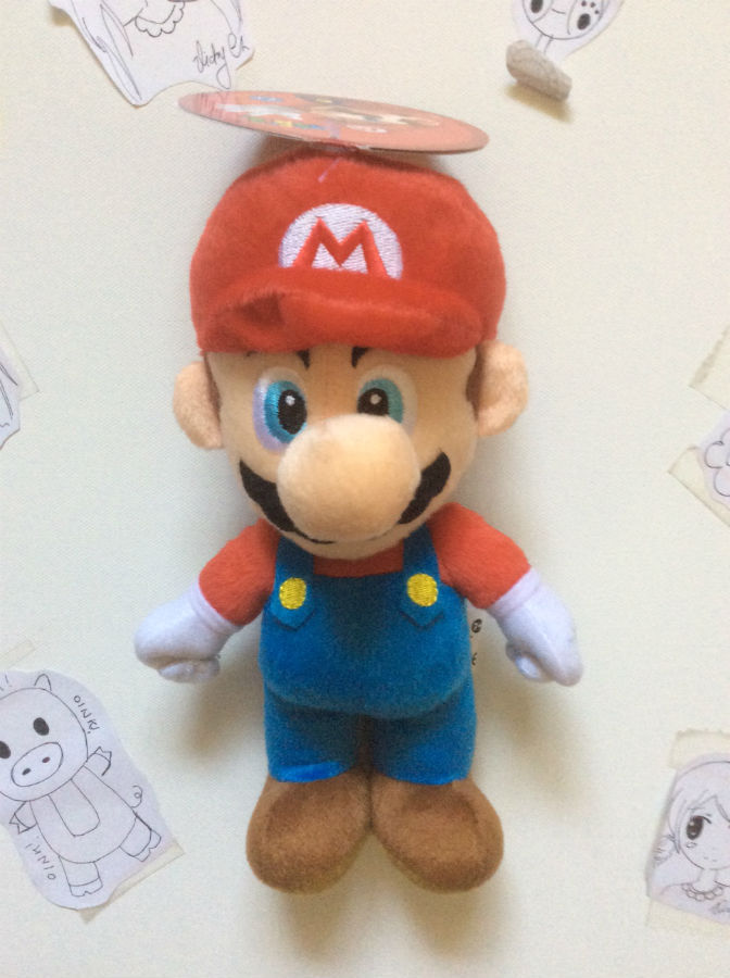 Super Mario Brothers Series 2: Mario 6 Inch Tall Plush NEW!