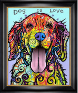 """Dog is Love"" Textured Giclee Print by Dean Russo - €205,35 EUR"