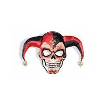 Forum Adult Sinister Skull Jester Face Mask, Black Red, One Size - $40.54
