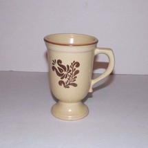 """Pfaltzgraff Village Brown & Cream Footed 5 1/4"""" Tall Coffee Mug Cup -3 Available - $6.99"""