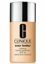 Clinique Even Better Broad Spectrum SPF15 Foundation Makeup WN 30 Biscuit - $23.36