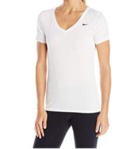XL 16-18 Nike Women's Legend 2.0 V-Neck Training Tee Shirt Short Sleeve White