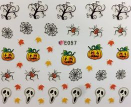 Bang Store Nail Art 3D Decal Stickers Halloween Pumpkins Spiders Reeper Kawaii - $3.68