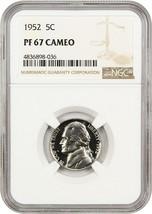 1952 5c NGC PR 67 CAM - Jefferson Nickel - $160.05
