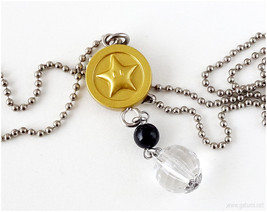 Super Mario Bros, Star Coin Pendant, Silver Ball Chain, Gamer Jewelry, G... - $11.00