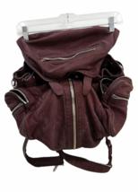ALEXANDER WANG Marti Lambskin Leather Backpack Rare Burgundy Purse Bag image 3
