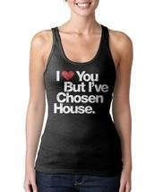 Womens I Love You But I've Chosen House Music Black Tank Top Shirt NEW