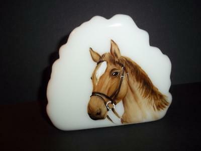 Fenton Glass Quarterhorse Horse Iceberg Paperweight Ltd Ed M. Kibbe #4/14