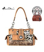 Montana West Safari Print Concho Collection Concealed Carry Satchel Handbag - $64.95