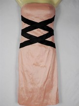 XXI Sexi Coral Black Geo Bandage Stretch Cupped Curve-conscious fit Dres... - $12.19