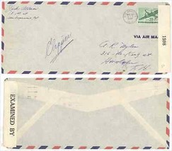 1942 Los Angeles CA CENSORED Air Mail Cover to Honolulu HI w/ Scott #C30... - $5.99