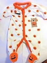 Unisex Carter's Little Pumpkin Footed Sleeper/Baby's First Halloween/3 m... - $8.86