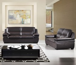 American Eagle EK-B113 Modern Dark Chocolate Genuine Leather Sofa Set 2pcs  - $1,614.05