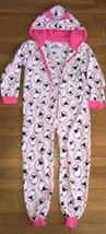 * childrens place pink sheep Fleece Footie Pajamas PJ Jammies medium 7 -... - $11.83
