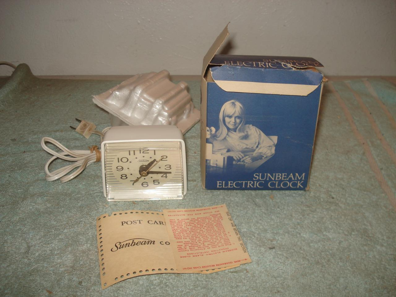 Vintage 1967 Sunbeam Electric Alarm Clock and 50 similar items