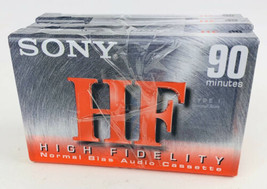New Sony HF 90 Minute High Fidelity Blank Audio Cassette Tape Normal Bias 3 Pack - $14.84