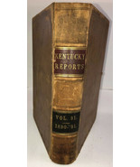1891 Law Book Kentucky Reports Vol 91 1891 Rare Lawyers Estate Find - $112.19