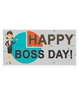 Happy Boss Day Banner Party Backdrop Decoration - $22.28