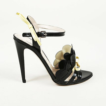 Miu Miu Patent Leather Ruffle Bow Sandals SZ 37.5 - $205.00