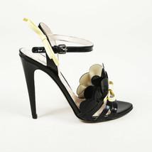 Miu Miu Patent Leather Ruffle Bow Sandals SZ 37.5 - $205.00