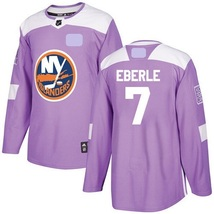 Men's New York Islanders Fights Cancer #7 Jordan Eberle Jersey Purple St... - €50,94 EUR