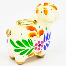 Handcrafted Painted Ceramic Sheep Lamb Confetti Series Ornament Made in Peru image 5