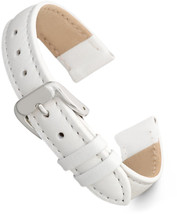 Speidel Genuine Leather Watch Band 11mm White Calf Skin  Strap, Stainles... - $69.06